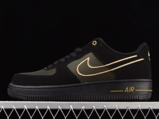 2021 New Arrival DM8077-001 Nike Air Force 1 Low Legendary Black/Gold For Sale