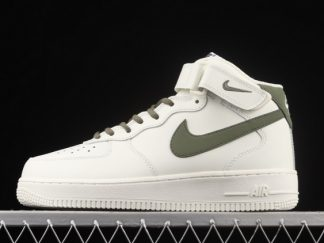 2021 New Arrival LZ6819-608 Nike Air Force 1 '07 Mid White Green For Sale